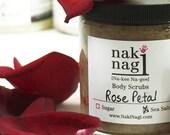 Exfoliating Sea Salt Body Scrub - ROSE PETAL - Vegan and Paraben Free, Sea Salt Bath Scrub, by Naki Nagi Body Scrubs