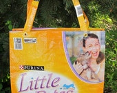 Upcycled Purina Little Bites Dog Food Tote