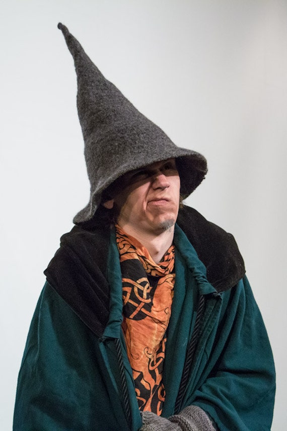 Felted Wool Gandalf Wizard Witch Hat
