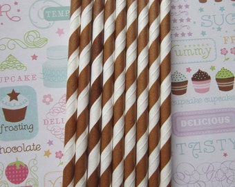 Brown Paper Straws ~ Set of 25