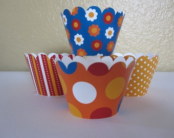 12 Standard Circus Cupcake Wrappers