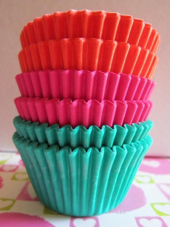 Jade Orange Hot Pink Mini or Standard Baking Liners