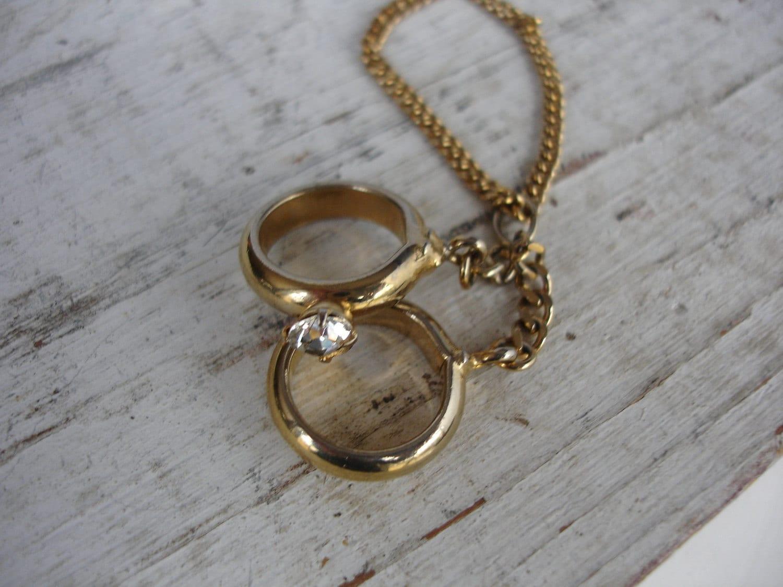 wedding ring necklace vintage necklace zoom - Wedding Ring Necklace