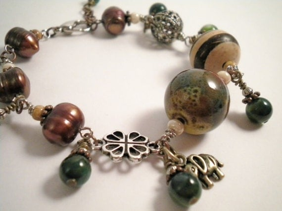 Down To Earth Natural Charm Bracelet