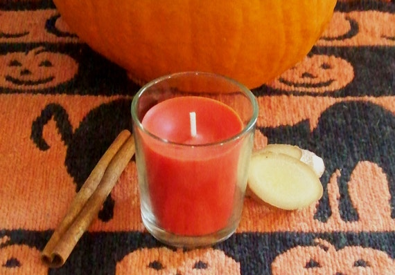 Harvest Spice Soy Wax Votive Candle with Holder, Cinnamon, Cloves, Ginger essential oils, Aromatherapy