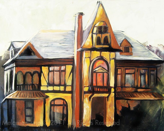 Haunted- giclee print of old haunted Victorian mansion