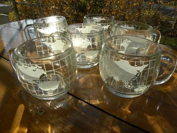 Nestle Nescafe Globe Mugs Set of Six