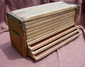 Vintage Wooden Cigar Drying Box - 10 Drawers