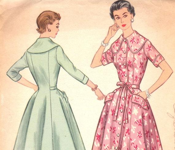 Vintage Pattern 1950s Classic Dress Size 16 McCalls 3304