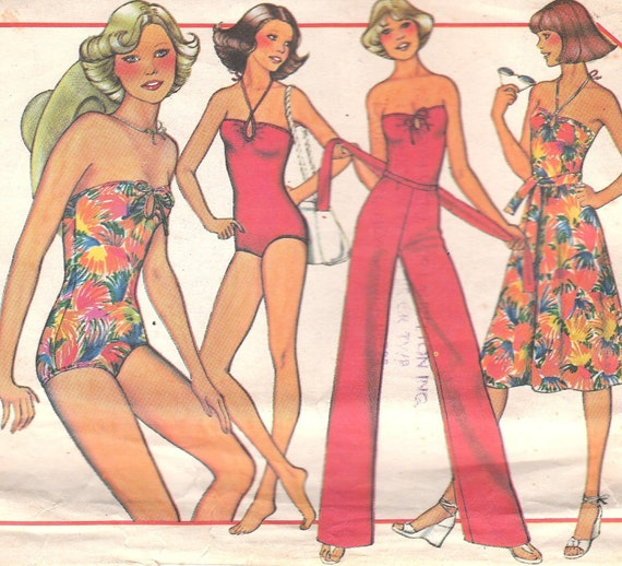 Bodysuit or Swimsuit, Pants & Skirt Pattern McCalls 5592 Size 8