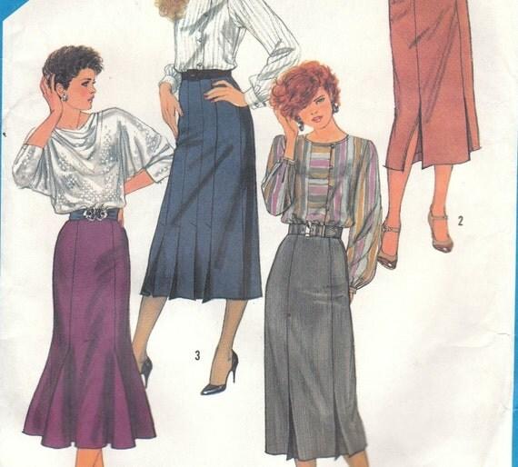 Distinctive Skirt Pattern Simplicity 6509 Size 10