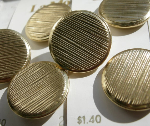 11 Matching Round Vintage Brass Buttons with Texture - 2 size