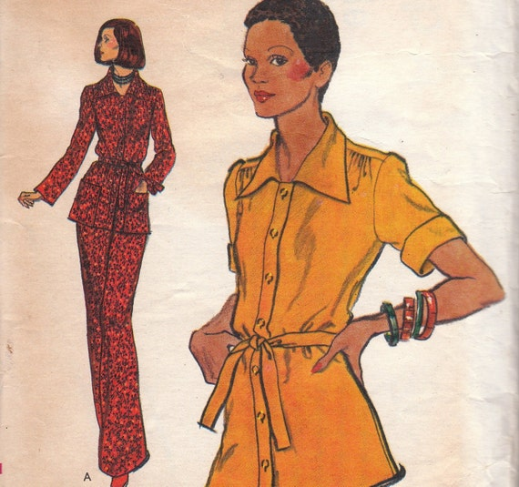Vintage Blouse & Pants Pattern Vogue 8901 Size 12