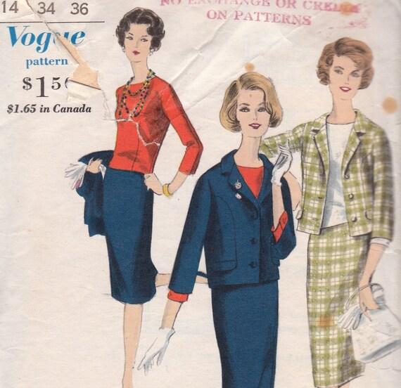 60s Suit & Blouse Pattern Vogue Special Design 4026 Size 14