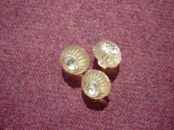 3 Sparkly Vintage Buttons