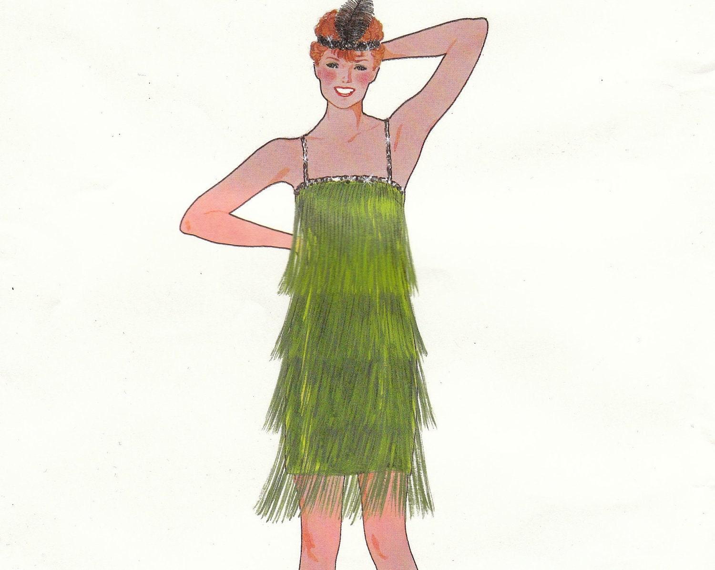 roaring 20s flapper fringe dress pattern rosebud creations