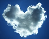 Valentine's love heart cloud 8X10 original photography print amazing in blue summer sky