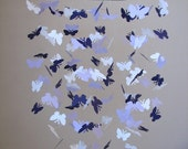 Butterfly baby mobile -Purple lavender and white colors