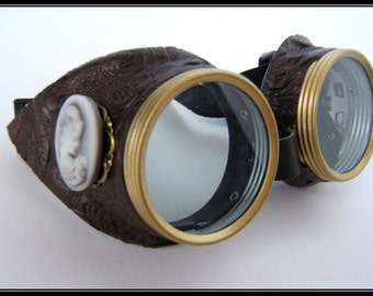Steampunk goggles vintage siding