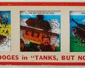 Vintage 1964 No.12 Kenner Color Slide Three Stooges in Tanks, But No Tanks