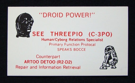Star Wars C-3PO & R2-D2 Business Card