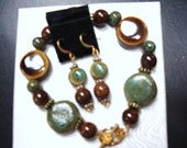 AUTUMN LEAF BRACELET   and earrings