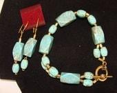 MAGNASITE BRACELET  and Earrings