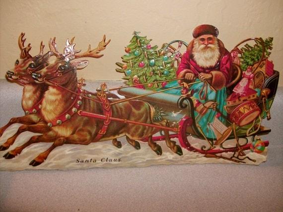 Large Vintage Santa Claus Christmas Postcard