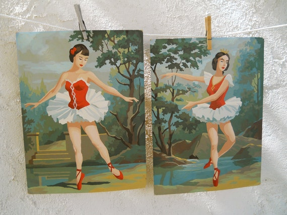 Reserved for Sarah.......Paint By Number Paintings of Ballet Dancers