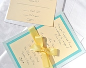 Items Similar To Turquoise And Yellow Wedding Invitation Suite On Etsy