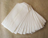 Teeny Glassine Bags - Food Safe  2 x 3.5 - Set of 70 White Blank Bags