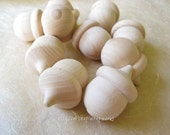 6 Wood Acorns for Crafting, Painting, Dyeing, Stamping or Assemblage
