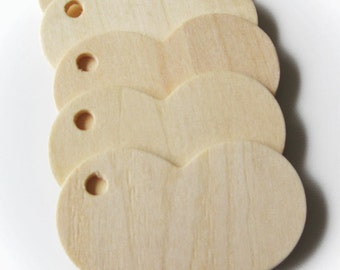 "200 Natural Wood Heart Tags, 2 5/16"" Wide, for Crafting,  Staining, Painting or Burnishing"