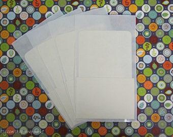 300 Library Card Pockets with Self Adhesive Backs