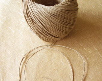 Natural Hemp Twine Cord, 20 lb strength 1mm diameter - 400 ft roll - Romanian