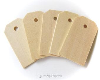 200 Natural Wood Gift Price Tags  2 1/4 inch Wood Hang Tags