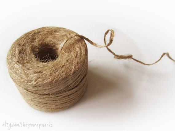 3 - 285 Ft Rolls of Natural, Undyed Jute Twine
