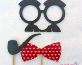 The Love Doctor. Photo Prop Set.  Great for parties, weddings, photo booth events.