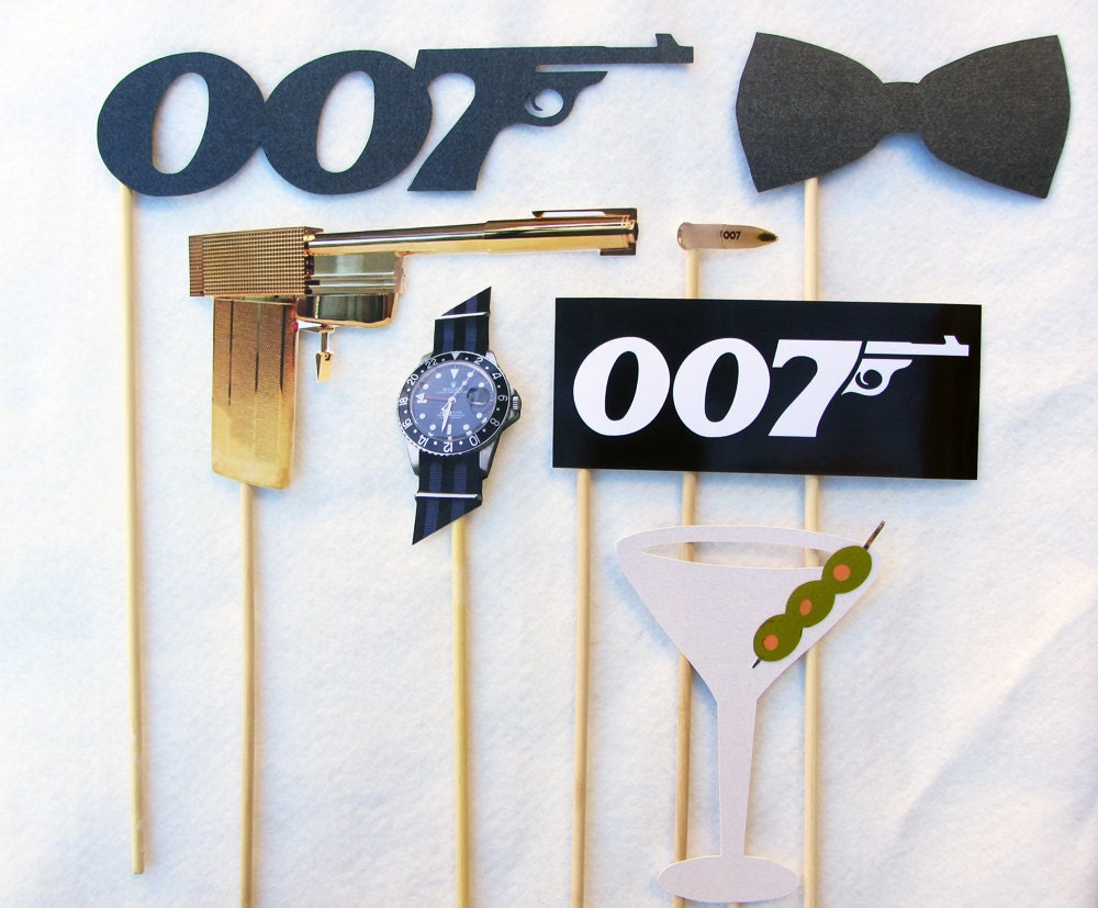 James bond photo booth prop collection set or a la carte for Decoration 007