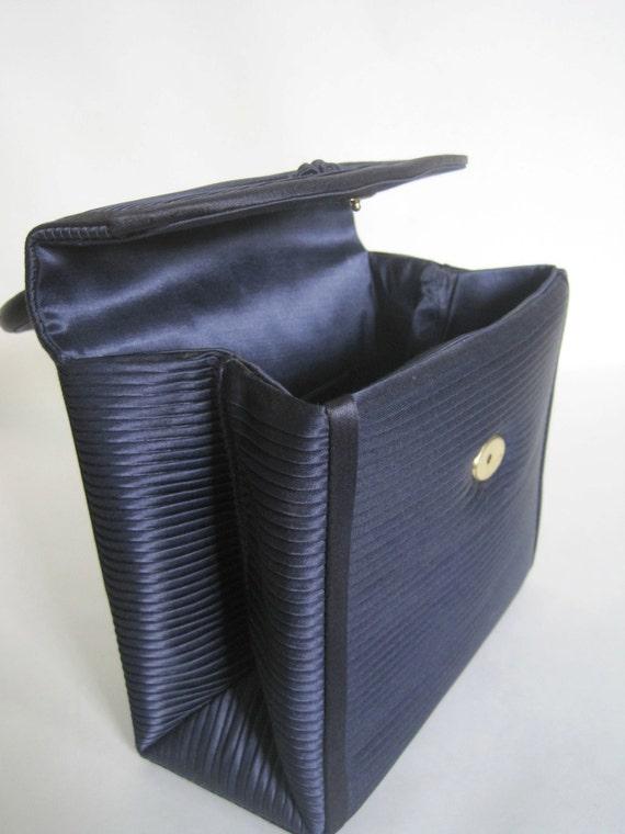 Midnight Blue Walborg Purse made in Spain