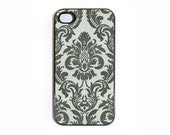iphone 4 case with Floral Damask Pattern Wallpaper 1
