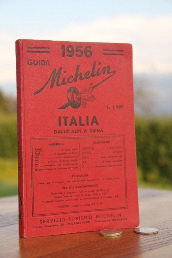 """1956 Michelin red guide: """" ITALIA"""""""