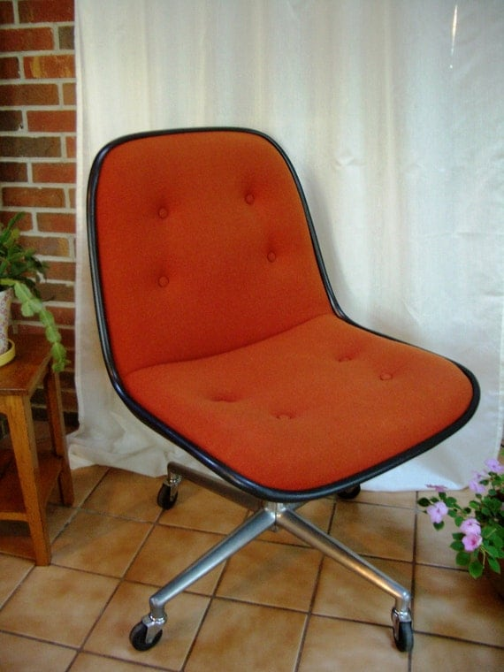 Vintage Office Desk Chair Mid Century Pollock Style - Treasury Item