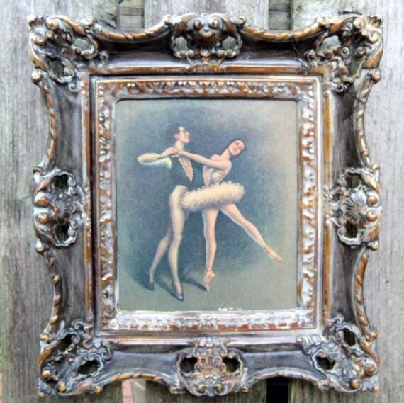 Retro Picture Ornate Resin Frame Dancers Turner Mfg Co