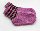 Hand Knitted Wool Socks for Children - Pink