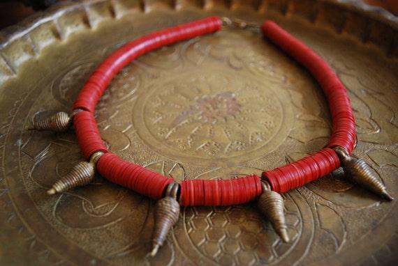 Vintage KENYAN NECKLACE - Brass/Bronze