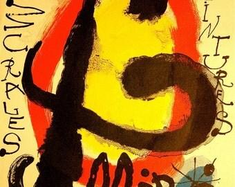 Joan Miro Original Exhibit Poster