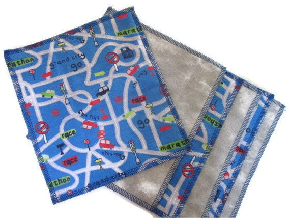 Reusable Cloth Baby Wipes, baby boy  wipes, eco friendly, wash rags, napkins, SET of 6