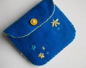 Handmade Coin Pouch / Purse (all hand sewn and embroidered)