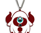 SALE - CYCLOPS - Tomo's yeti Cyclops, Kawaii Necklace Charm